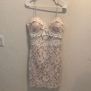 White Crochet Lace dress from Forever 21